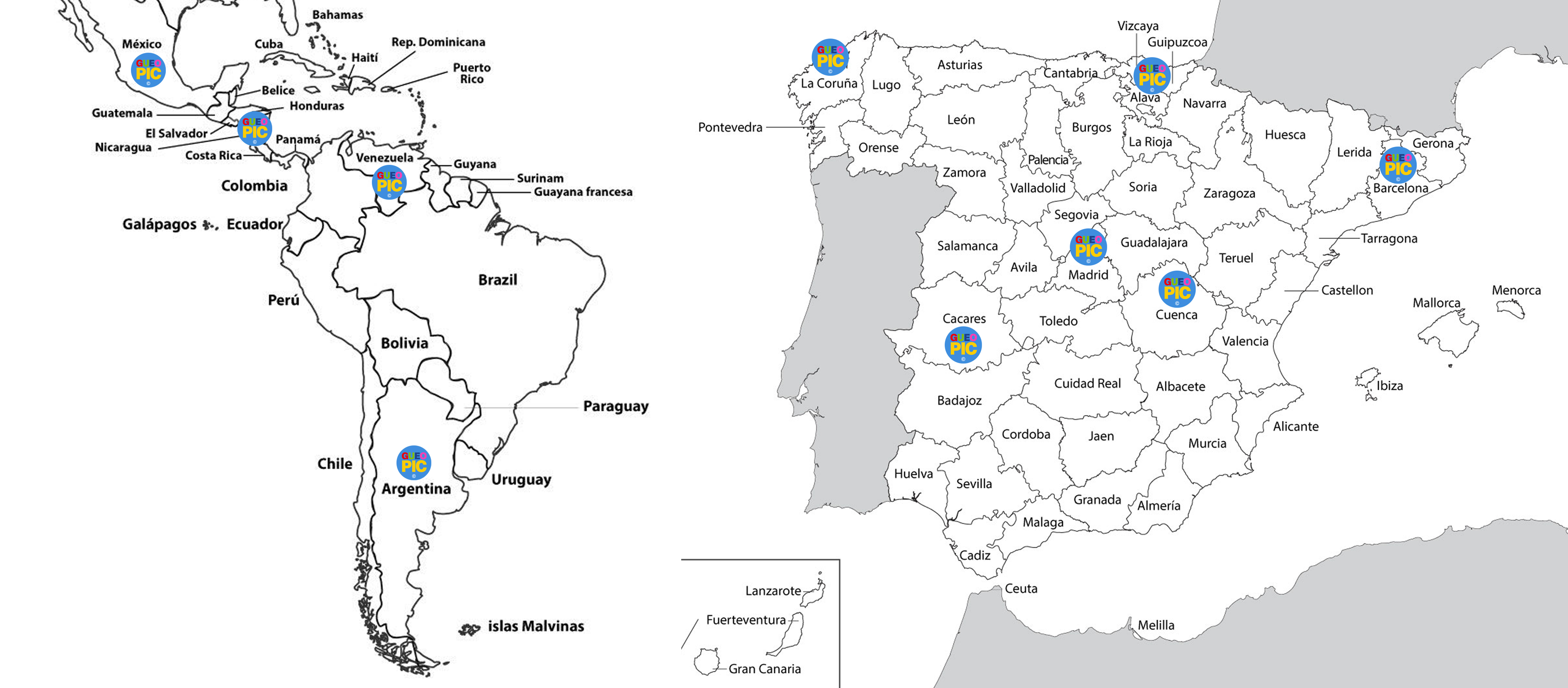 Mapa global Gueopic